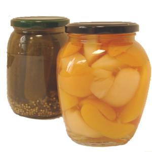 Obst-, Gemüse- und Sauerkonserven